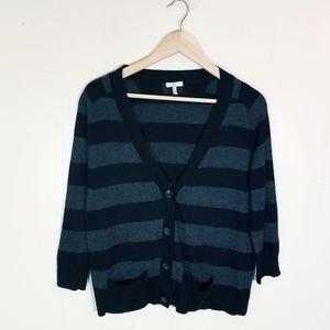 Joie Striped Button Up Cardigan